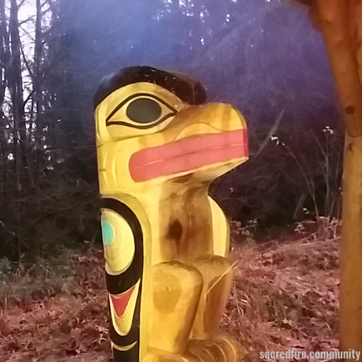 fire speaks, sacred fire, olympia, washington, raven