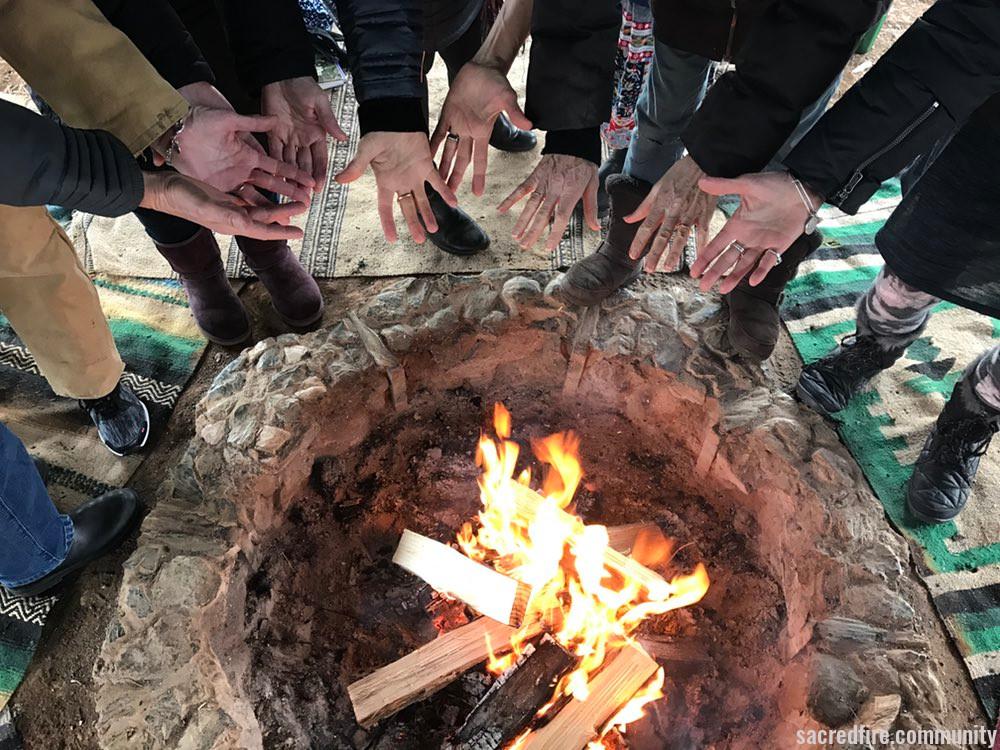 Ukalai, Women Gathering, Sacred Fire, Blue Deer